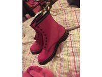 Hot pink Dr Martens size 7