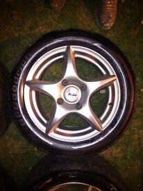 """4 x TSW 15"""" Alloy Wheels fitted with Goodrich Tyres - Fit Volvo V40/S40 + Others (see specs.)"""