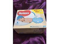 Brand New Huggies baby wipes box of 10