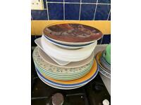 Plates cutlery mugs bowls free !
