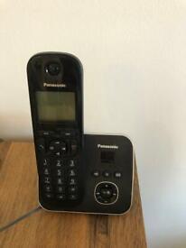 Black Panasonic home telephone