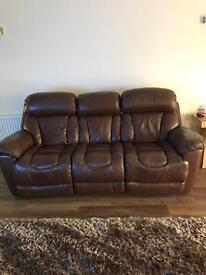 DFS Supreme reclining sofa and chair