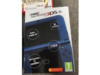 Latest model new 3ds xl metallic blue plus extras