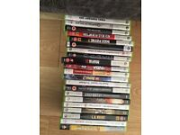Used xbox360 + 2 wireless controllers + 21 games