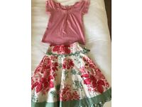 Monsoon skirt and top age 6-8 years