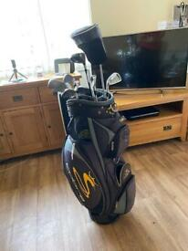 Left handed 4 to pw Mitzuno irons. Cobra bag. Driver