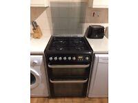 Hotpoint HUD61 Black Dual Fuel Cooker