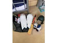 Full cricket set of equipment