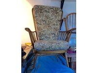 Original Ercol Jubilee High Back Chair with original cushions
