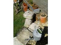 LOVELY OLD STADDLE STONE GARDEN PATIO FEATURE NICELY WEATHERED VINTAGE CONDITION