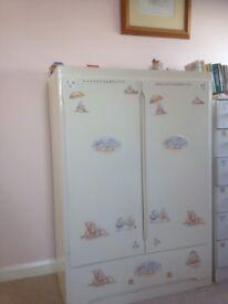Children's wardrobe With draw, dimensions h111cm, w 76cm, d 41cm