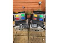 2 x Stairville HL40 DMX (iColor 4) Professional Flood lighting set suitable for band or DJ