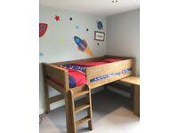 Children's Carter midi sleeper cabin bed and sleep tight mattress