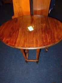 old barley twist gateleg dining kitchen table