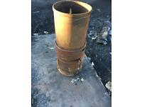 Garden fire pit chiminea stainless steel