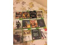 Xbox 360 and games for sale, good condition, 12 games, comes with controls and leads