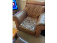 Leather arm chair (super comfy!!!)- Free for collection