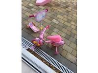 Girls peppa pig bike and scooter