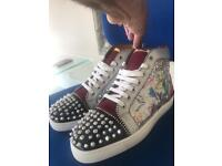 Brand New Genuine Original Christian Louboutins High Top Spike Sneakers Trainers - UK Size 9