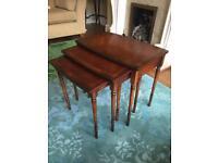 Vintage Solid wood nest of tables