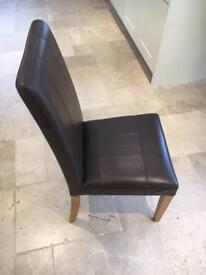2 John Lewis Real leather dining chairs