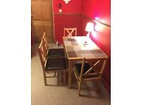 Mirror Wardrobe and Table & Chairs, for 100 pounds - Bargain Offer