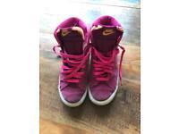 Nike Blaze High Top Pink Trainers UK 5 / 5.5