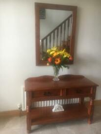 Hall table and mirror Reduced!!!!!