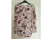 Maternity printed long sleeves top from H&M - UK size 10-12