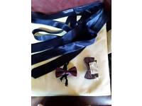 Brand new never used Cadbury purple colour ties and now ties