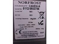 Norfrost small chest freezer Wx550mm Lx550mm Hx850mm