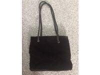 Black suede ladies bag