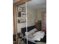Mirrored Sliding Wardrobe Doors x2 VGC