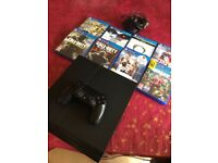 Playstation 4 Console Comes With 1 Remote And 8 Games