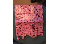 Paperchase pink shoe shopping bag. New