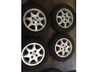 Rover 600/800 15 inch alloy wheels and tyres set of 4 good condition