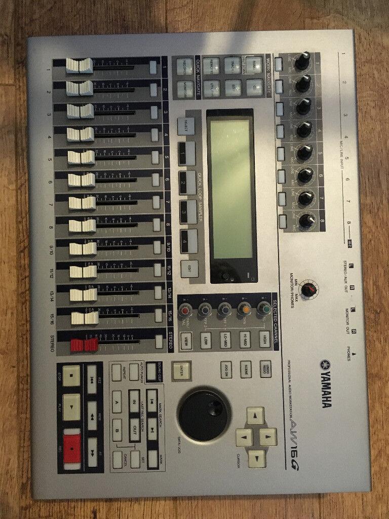 Yamaha AW16G 16 Track recording studio with internal cd burner, manual, instructional dvd, etc