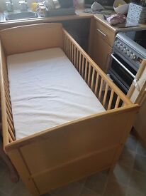 Cotbed and mattress