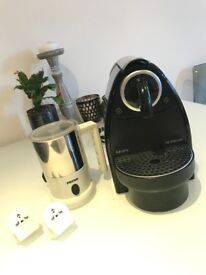 Nespresso Espresso Capsule Machine (Krups) with milk frother and 10 FREE coffee capsules
