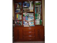 Wooden Bookcase with cupboard