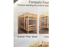 3 ft wide Wooden Bunk Beds.