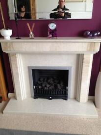 Gas fire and surrounding