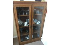 Antique Glass Cabinet.