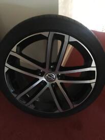 "Vw nogaro alloy wheels 18"" gtd"