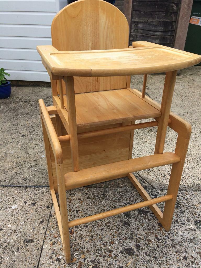 Pleasing Wooden High Chair Table Chair Combo In Poole Dorset Gumtree Lamtechconsult Wood Chair Design Ideas Lamtechconsultcom