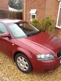 Audi a3 2.0 fsi 2004r in good condition. mot until 28.01.18. New battery, new brakes, car history.