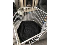 Children's playpen, with cushion, excellent condition