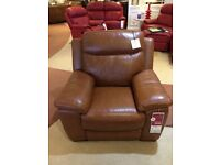 New electric leather reclining armchair.