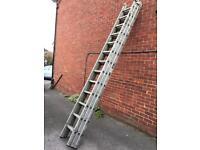 3 stage aluminium ladder