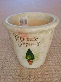 1.6kg+ Cream Pottery Indoor Flower Plant Pot / Planter